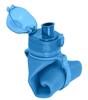 an-opened-silicone-water-bottle