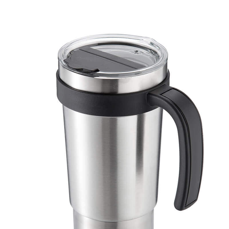 stainless steel coffee cup with lid