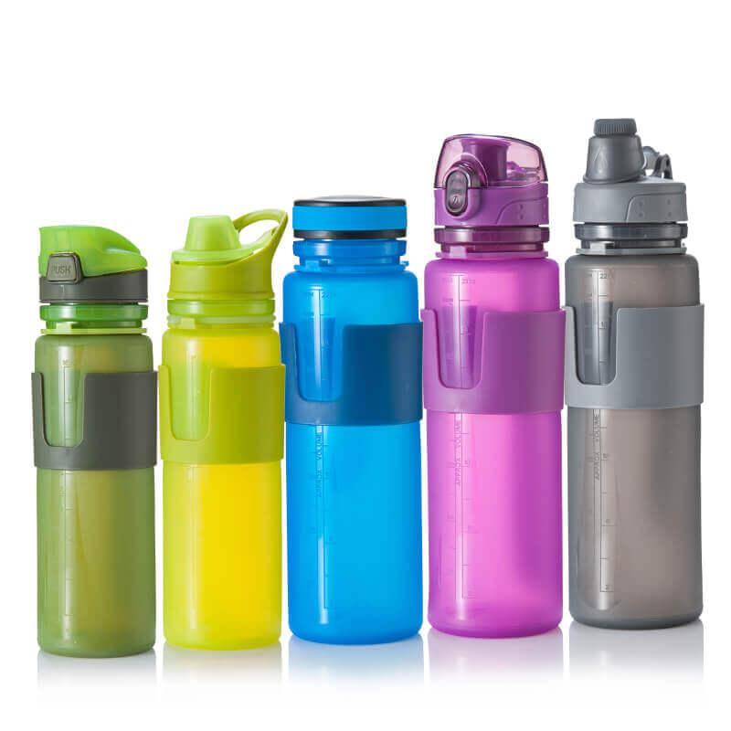 silicone folding water bottle
