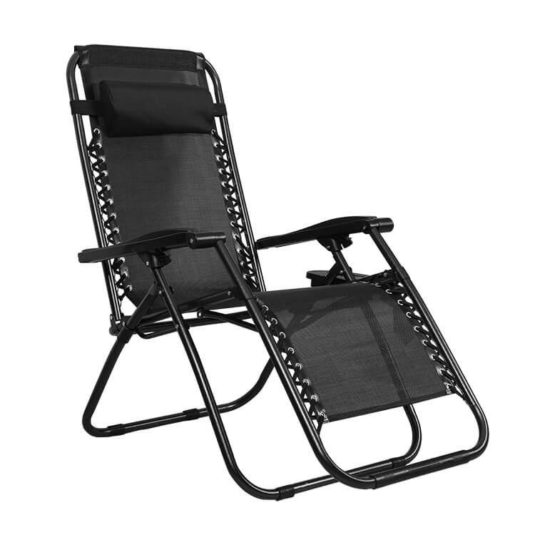 Strong Steel Deck Camping Chair