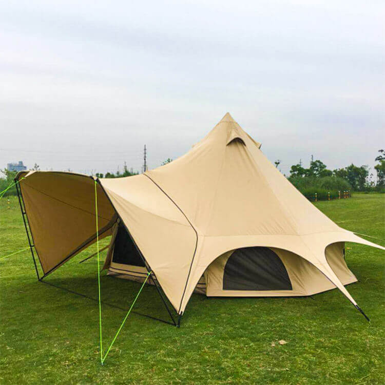 Luxury glamping yurt tent