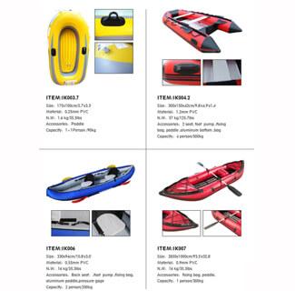 Inflatable Kayak & Paddle Catalog