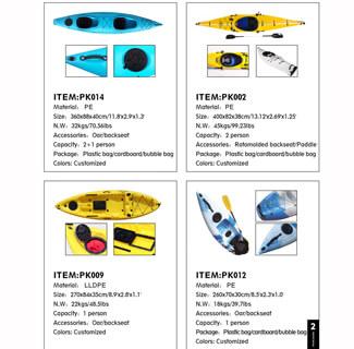 Rotomolded Kayak Catalog